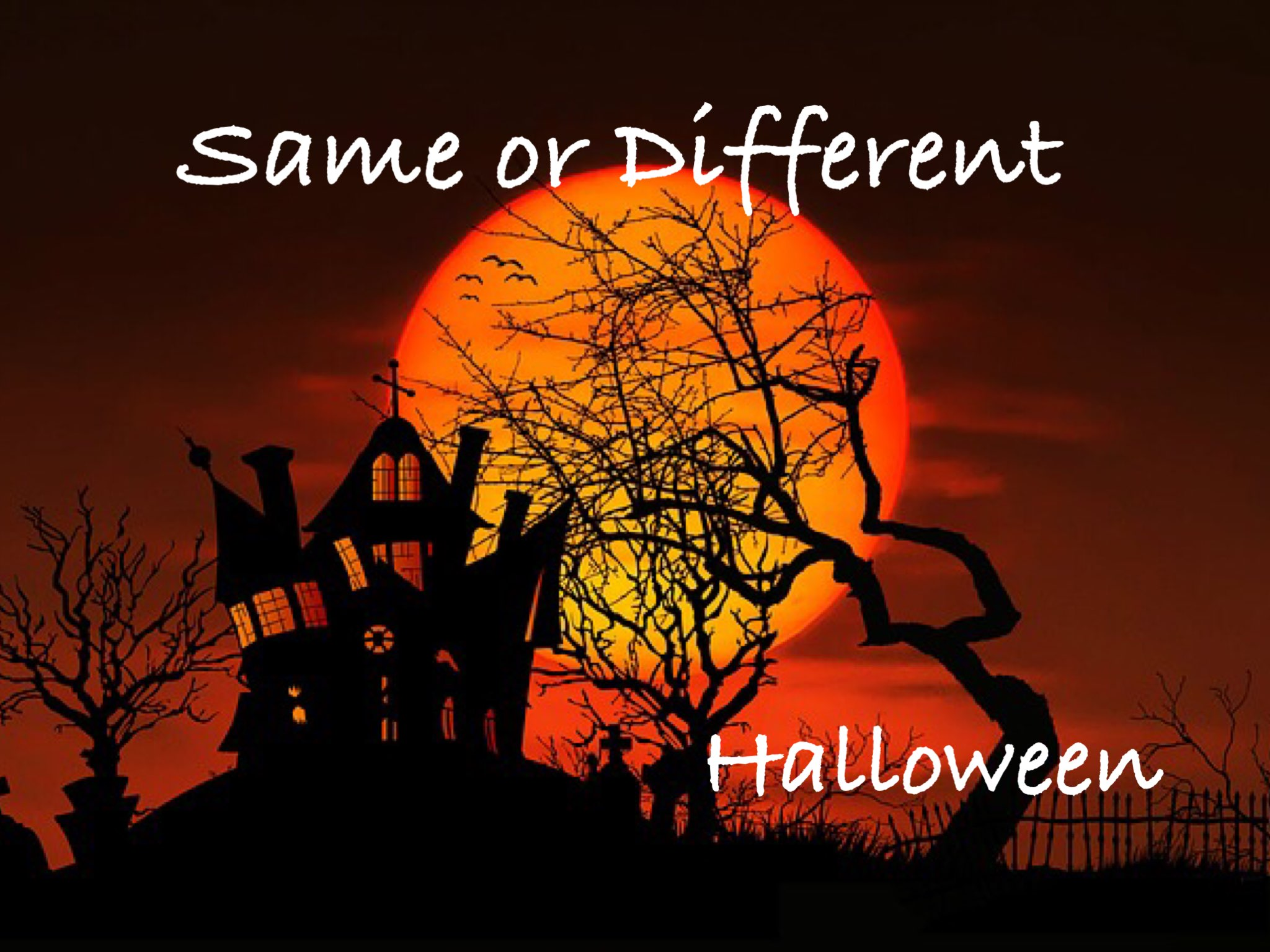 Halloween: Same and Different | abcteach