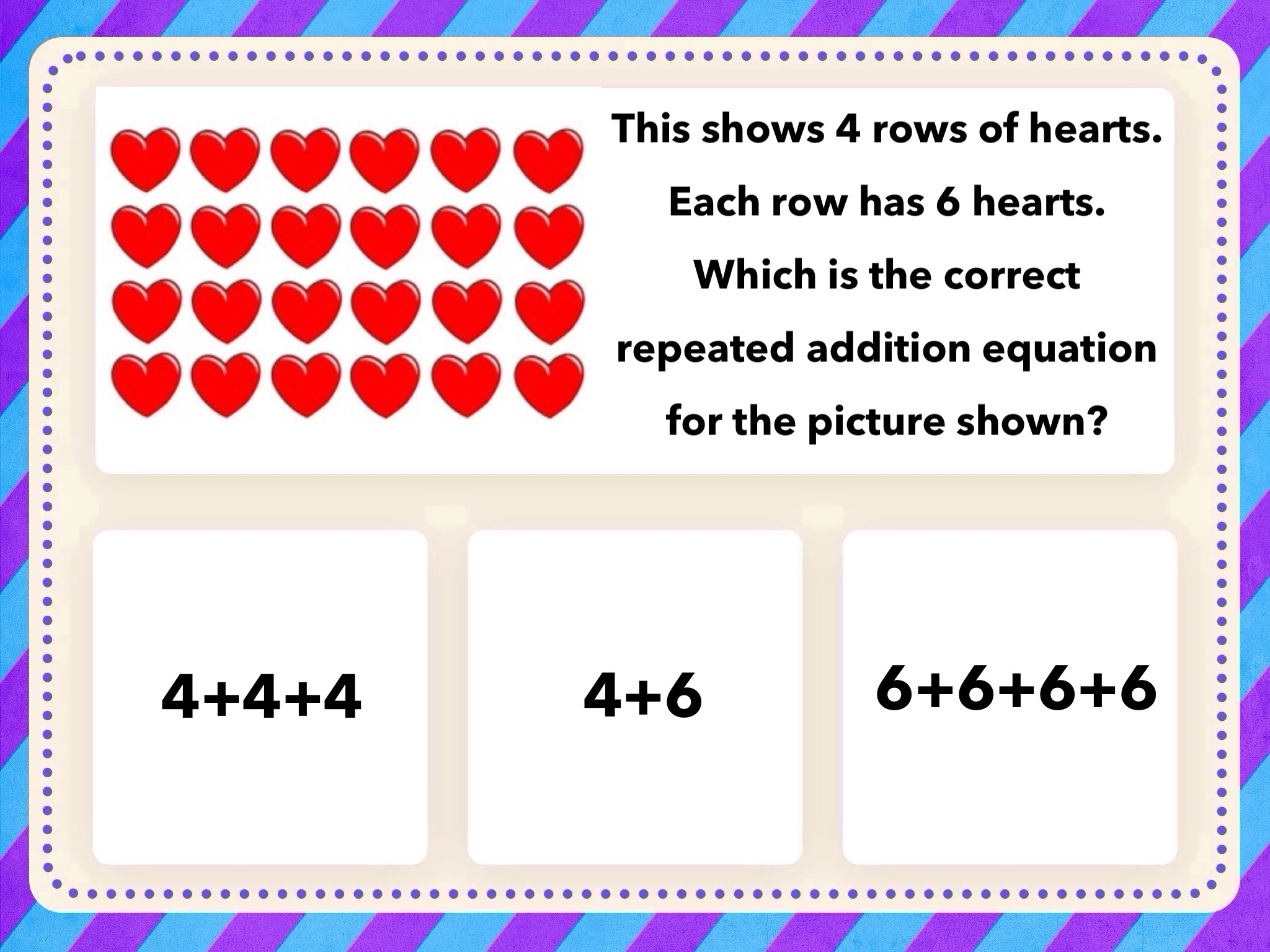 Play Arrays, Repeated Addition, Multiplication by Tanya Folmsbee ...