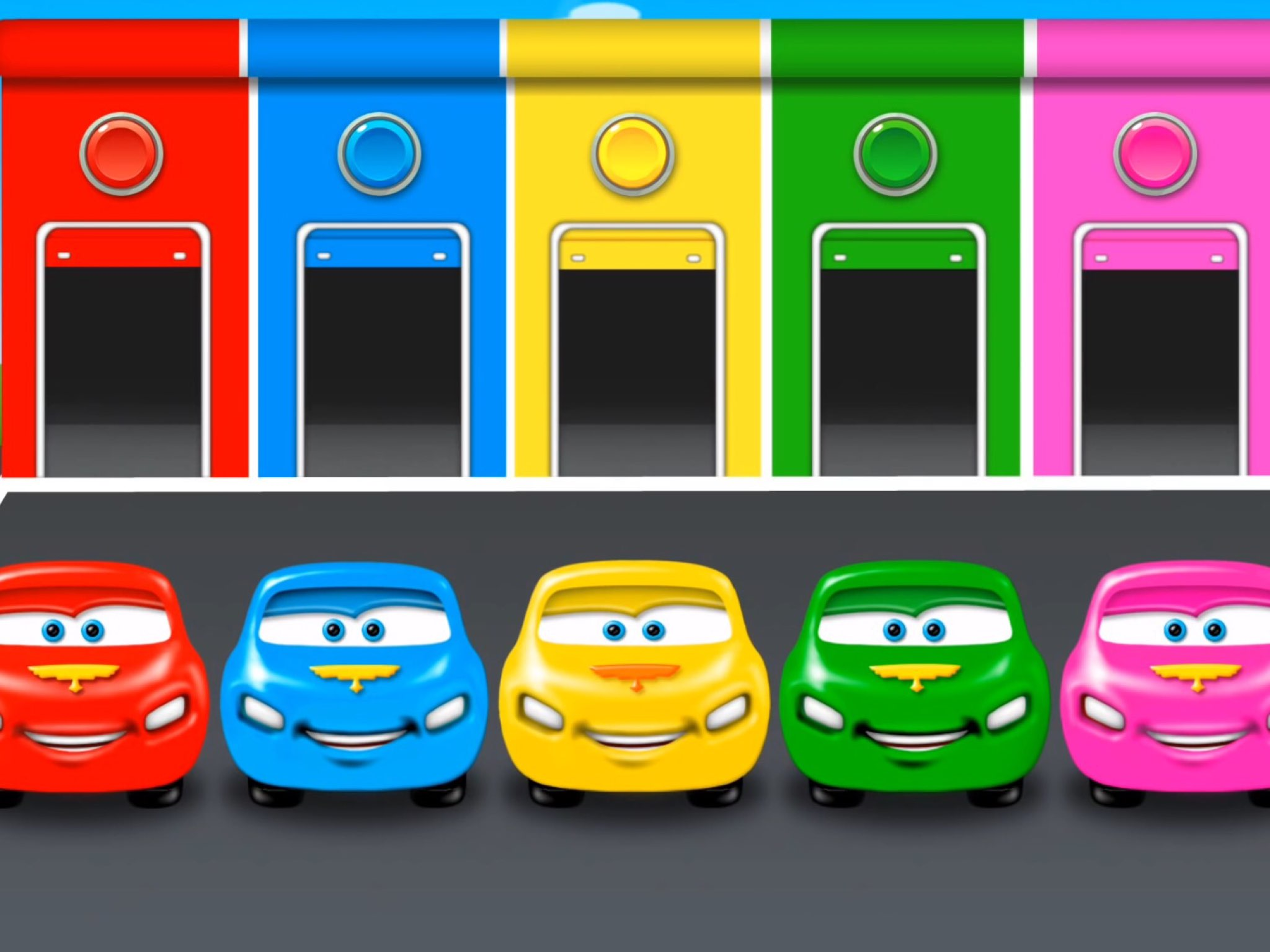 play learn colors cars and trucks by kids tube on tinytap