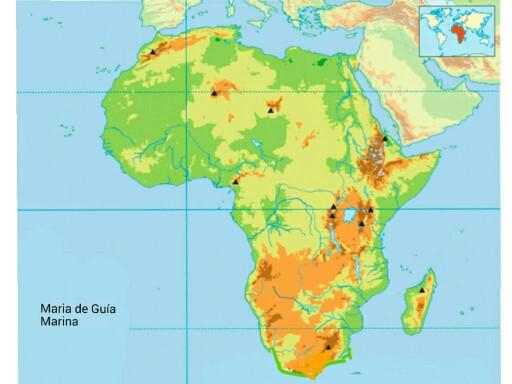 áfrica mapa físico Play Mapa físico de África by Marina Rubio   on TinyTap áfrica mapa físico