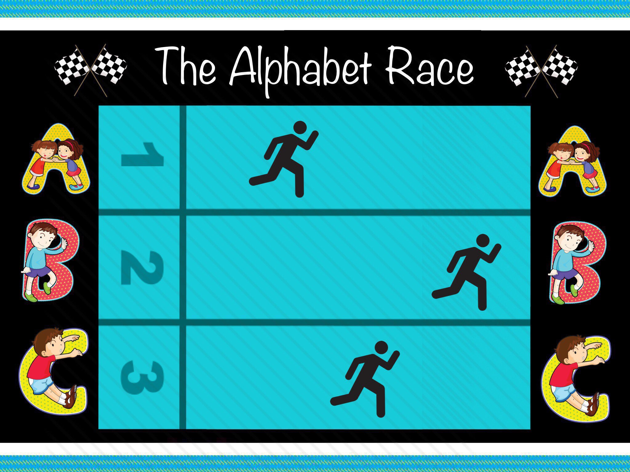 Image result for alphabet race